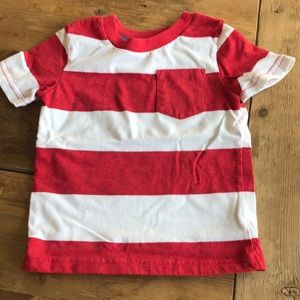 Other - Toddler 2T red and white striped shirt